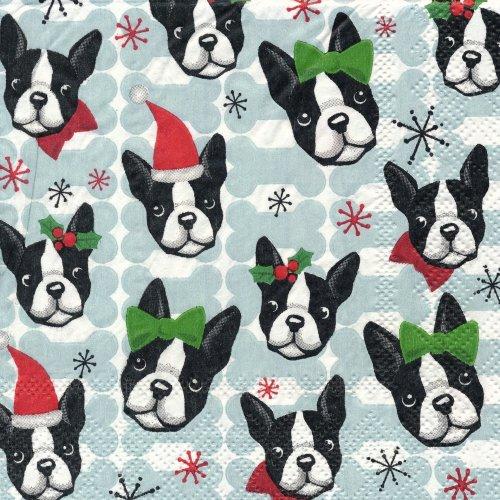 ペーパーナプキン(25)PS:(5枚)Boston Terriers 95850-PS12