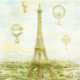 ペーパーナプキン(25)PS:(5枚)Balloon over Paris-PS26(25)