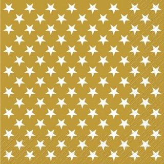 ペーパーナプキン(33)StewoAG:(5枚)ゴールドホワイトスター-ST32