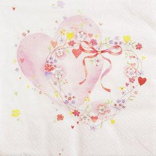 ペーパーナプキン(33)ti-flair:(5枚)Deux Coeurs Unis-TI69