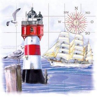 ペーパーナプキン(33)ti-flair:(5枚)Lighthouse & Compass-TI70