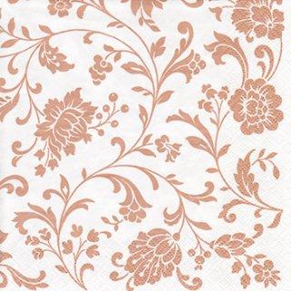 ペーパーナプキン(33)ti-flair:(5枚)Arabesque White copper-white-TI75