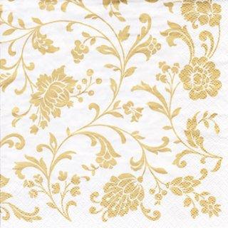 ペーパーナプキン(33)ti-flair:(5枚)Arabesque  White gold-white-TI77