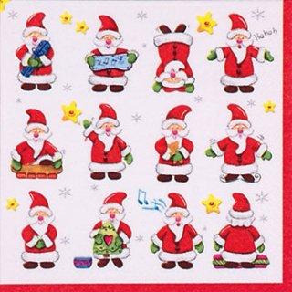 ペーパーナプキン(33)ti-flair:(5枚)Funny Santas-TI82