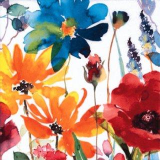 ペーパーナプキン(33)ti-flair:(5枚)Flores Rojas y Amarillas-TI83