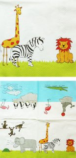 ペーパーナプキン(33)VB:(5枚)Funny Zoo-VB2