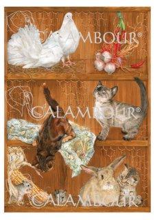 calambour:デコパージュ用ペーパー(デコパージュペーパーEASY)TLE-003