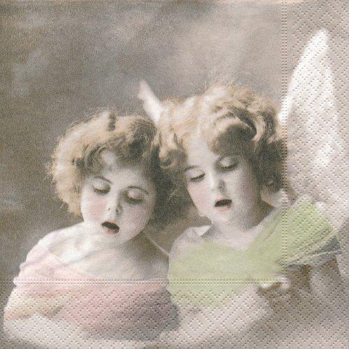 ペーパーナプキン(33)Sagen:(5枚)【s-10】歌う二人の天使