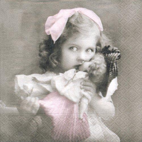 ペーパーナプキン(33)Sagen:(5枚)【30】人形と女の子