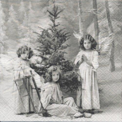 ペーパーナプキン(33)Sagen:(5枚)【35】クリスマスの天使