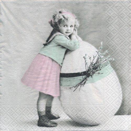 ペーパーナプキン(33)Sagen:(5枚)【44】イースターの女の子