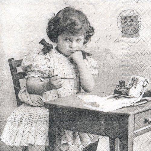 ペーパーナプキン(33)Sagen:(5枚)【70】Girl writing