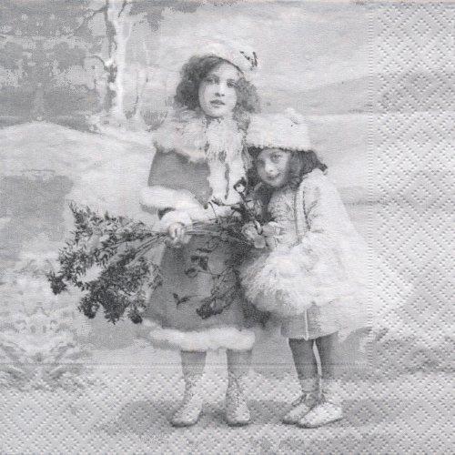 ペーパーナプキン(33)Sagen:(5枚)【72】クリスマスの少女80088