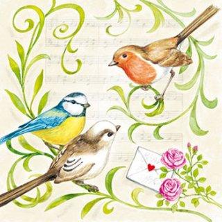 ペーパーナプキン(25)AMB:(5枚)SINGING BIRDS-AM29(25)