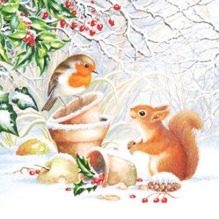 ペーパーナプキン(25)AMB:(5枚)Winter Picture-AM39(25)