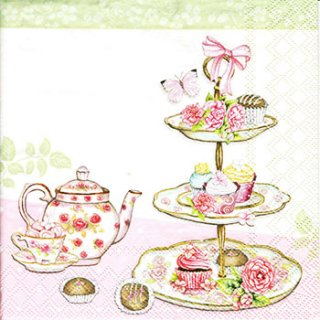 ペーパーナプキン(25)AMB:(5枚)High Tea-AM52(25)
