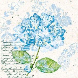 ペーパーナプキン(25)AMB:(5枚)紫陽花(ブルー)-AM60(25)