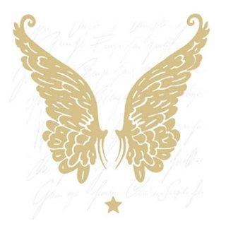 ペーパーナプキン(33)AMB:(5枚)WINGS GOLD-AM233