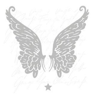 ペーパーナプキン(33)AMB:(5枚)WINGS SILVER-AM234