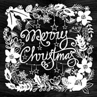 ペーパーナプキン(33)AMB:(5枚)MERRY CHRISTMAS ブラック-AM246