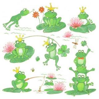 ペーパーナプキン(33)AMB:(5枚)Funny Frogs-AM324