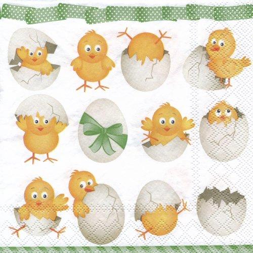 ペーパーナプキン(33)AMB:(5枚)Funny Chickens-AM332