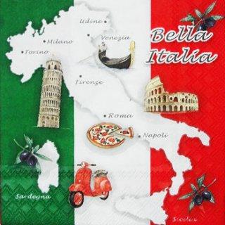 ペーパーナプキン(33)AMB:(5枚)Bella Italia-AM334