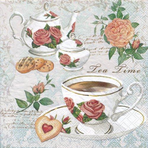 ペーパーナプキン(33)AMB:(5枚)Tea Party-AM335