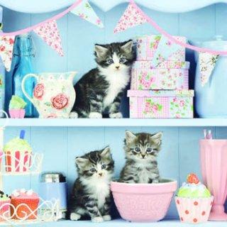ペーパーナプキン(33)AMB:(5枚)Cats In The Kitchen-AM340