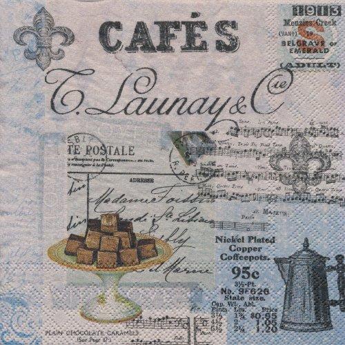 ペーパーナプキン(33)AMB:(5枚)Cafe Collage-AM347