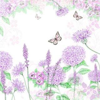 ペーパーナプキン(33)AMB:(5枚)Purple Wildflowers-AM354