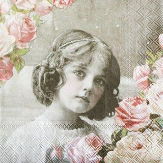 ペーパーナプキン(33)AMB:(5枚)FLOWER GIRL-AM362
