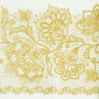 ペーパーナプキン(33)AMB:(5枚)GLORIA GOLD-AM375