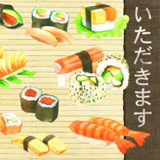 ペーパーナプキン(33)AMB:(5枚)寿司-AM378