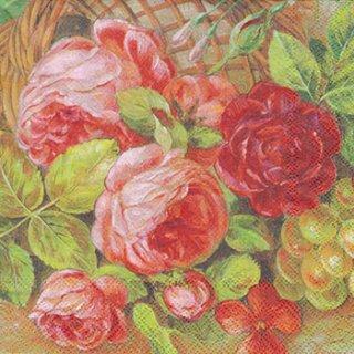 ペーパーナプキン(33)AMB:(5枚)Antique Floral-AM387