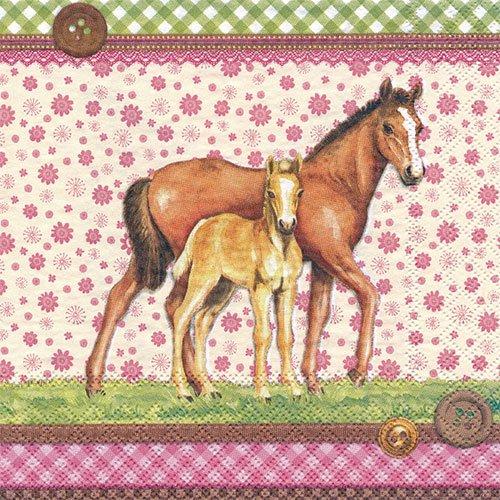 ペーパーナプキン(33)AMB:(5枚)SIGNED HORSES-AM388