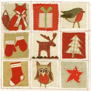 ペーパーナプキン(33)AMB:(5枚)Handmade Fabric-AM408