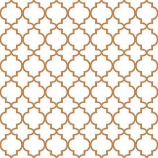 ペーパーナプキン(33)AMB:(5枚)Ogee Copper Outline-AM414