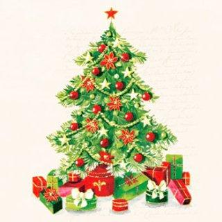 ペーパーナプキン(33)AMB:(5枚)Christmas Tree-AM425