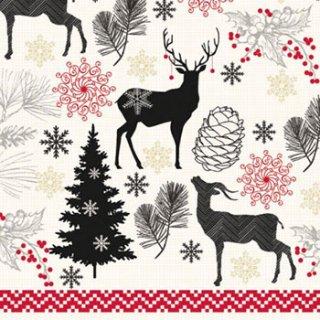 ペーパーナプキン(33)AMB:(5枚)Christmas Deer-AM428