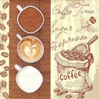 ペーパーナプキン(33)AMB:(5枚)Coffee Trio-AM447