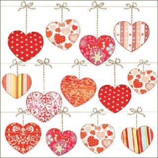 ペーパーナプキン(33)AMB:(5枚)Hearts On Wire-AM453