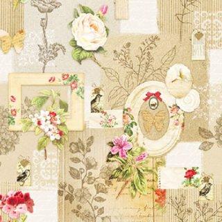 ペーパーナプキン(33)AMB:(5枚)Frames And Flowers-AM470
