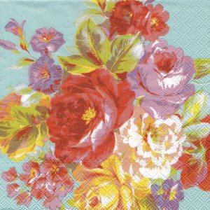 ペーパーナプキン(33)AMB:(5枚)Painted Roses-AM472