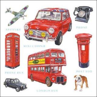 ペーパーナプキン(33)AMB:(5枚)London Icons-AM475