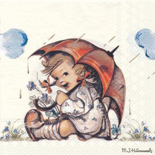 ペーパーナプキン(33)AMB:(5枚)Umbrella Girl-AM481