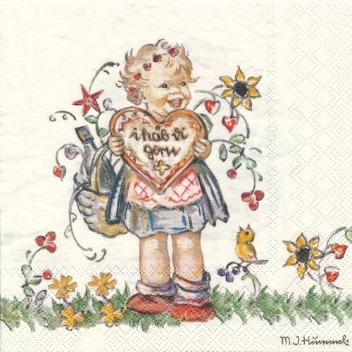 ペーパーナプキン(33)AMB:(5枚)Valentine Gift-AM482