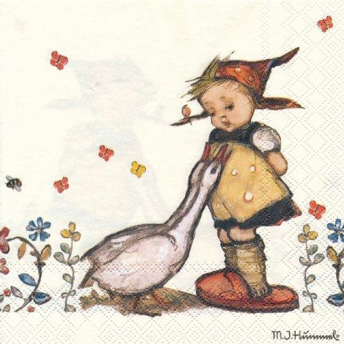 ペーパーナプキン(33)AMB:(5枚)Goose Girl-AM483
