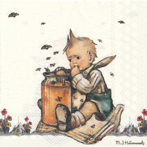 ペーパーナプキン(33)AMB:(5枚)Honey Lover-AM484