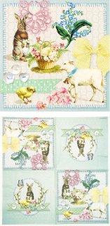 ペーパーナプキン(33)AMB:(5枚)Easter Collage-AM492
